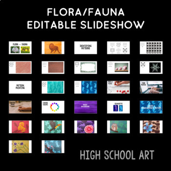 High School Art Lesson Plan. Painting Unit featuring Flora & Fauna
