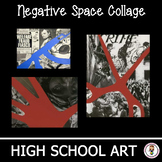 High School Art Unit. Negative Space Social Issue Collage. Art Lesson Plan.