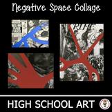 High School Art Unit. Negative Space Social Issue Collage. Art Lesson Plan.