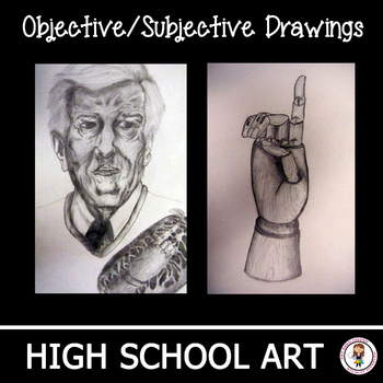 High School Art Unit.  Objective and Subjective Drawing Lesson Plans