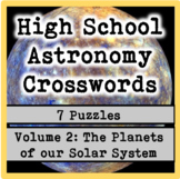 High School Astronomy Crosswords Vol. 2: Planets of the Solar System (7 puzzles)