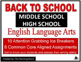 Back to School Middle School - High School