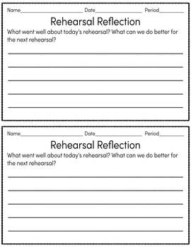 High School Band Exit Tickets/Slips