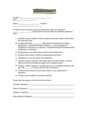High School Behavior Contract