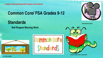 High School Bell Ringers Aligned to Common Core/ FSA