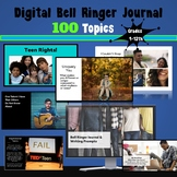 High School Bell Ringers and Writing Journal Prompts: 100 Days of Writing