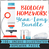 High School Biology Homework Worksheets for the Whole Year