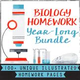 High School Biology Homework Worksheets - Distance Learning