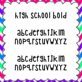 High School Bold Font {personal and commercial use; no lic