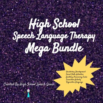 High School Speech Queen Mega Bundle