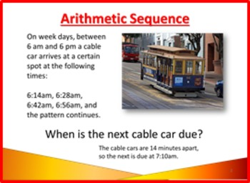 High School CCSS Sequences Arithmetic and Geometric PowerPoint