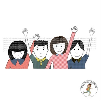 CLASSROOM KIDS CLIP ART by Catch Up Learning   Teachers ...
