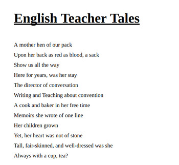 High School Canterbury Tales