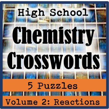 Chemistry Crossword Puzzle Teaching Resources Teachers Pay Teachers