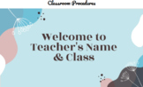 High School Class Expectations: Editable Brochure, Slides,