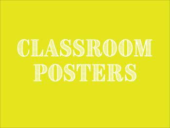High School Classroom Posters