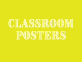 High School Classroom Posters