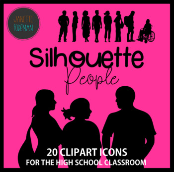 High School Students Clip Art | Silhouette People {Personal or Commercial Use}