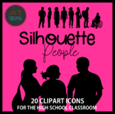 High School Clip Art | Silhouette People {Personal or Comm