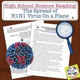 High School Science Reading: H1N1 Virus on an Airplane - Sub Plan