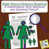 High School Science Reading: X-Inactivation and Twins - Sub Plan