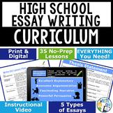 Writing Program Mega Bundle 35 Lessons for High School | D