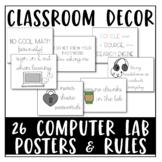 High School Computer Lab Bundle: Computer Lab Posters & Computer Lab Rules PDF