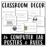 High School Computer Lab Bundle: Computer Lab Posters & Co