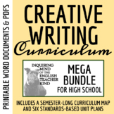 High School Creative Writing Bundle - Complete Semester Curriculum & Materials