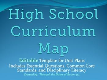 High School Curriculum Map Template