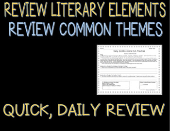 High School Daily Common Core Reading Practice Weeks 1-5 {LMI}A