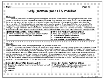 High School Daily Common Core Reading Practice Weeks 6-10 {LMI}A