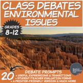 Middle/High School Debates Package: Environmental Issues