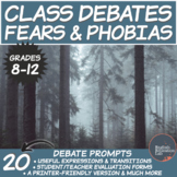 Middle/High School Debates Package: Fears and Phobias