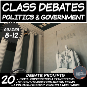 Middle/High School Debates: Politics and Government