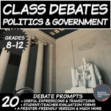 Middle/High School Debates Package: Politics and Government