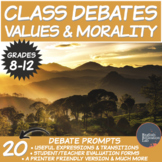 Middle/High School Debates Package: Values & Morality