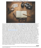 High School ELA: Independent Reading Through a Lens