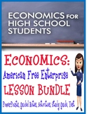 High School Economics American Free Enterprise BUNDLE PowerPoints & More