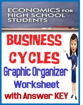 High School Economics Business Cycles Worksheet/Graphic Organizer with KEY