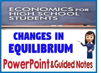 High School Economics Changes in Market Equilibrium PowerPoint & Guided Notes