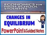 High School Economics Changes in Market Equilibrium PowerP