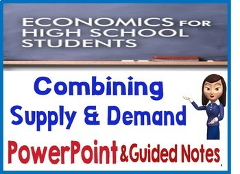 High School Economics Combing Supply & Demand PowerPoint with Guided Notes