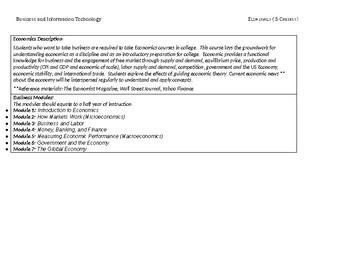 High School Economics Curriculum