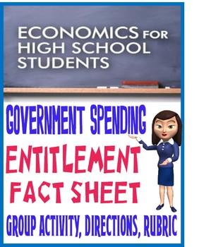 High School Economics Federal Spending Entitlement Fact Sheet Group Activity