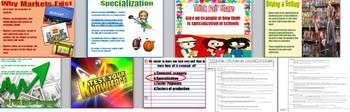 High School Economics Free Market Engaging PowerPoint with Guided Notes & Quiz