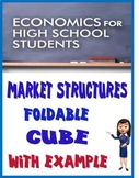 High School Economics Market Structures Foldable Cube