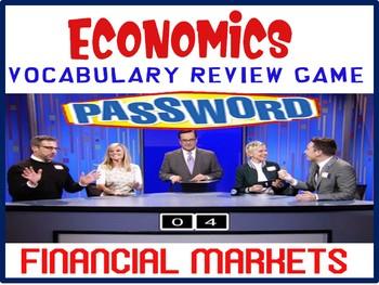 High School Economics Password Review Game Economic Financial Markets