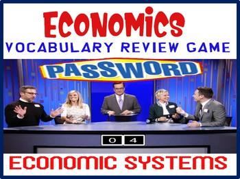 High School Economics Password Review Game Economic Systems