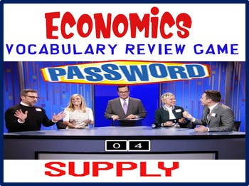 High School Economics Password Review Game Supply